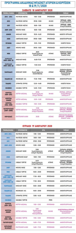 Academy Programme 18 & 19 Jan 2020